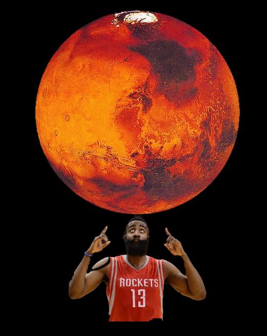 James Harden considering Mars