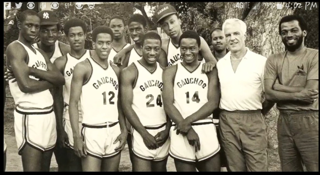 e2224baaa2f6 That s Lloyd wearing the hat and former-NBA player Rod Strickland is 3rd  from left. Lou d Almeida